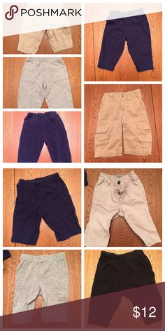9 pairs of 0-3 mo pants Sizes 0-3mo, 3mo. Brands vary! Great condition👍 Bottoms
