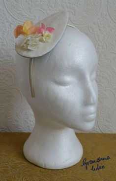 Handmade Fascinator by Grandma Chic 'Soft Pink and Peach' £23.00
