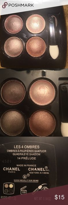 Chanel Eyeshadow 14 Prelude. I did try this once. Still has one unused applicator and product is full as pictured. CHANEL Makeup Eyeshadow