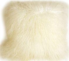 Pillow Decor throw pillow and sofa cushion collection includes Mongolian Sheepskin Natural White Decorative Throw Pillow Pink Throws, White Throws, White Throw Pillows, Throw Pillow Sets, Wool Pillows, Cushions On Sofa, Decorative Throw Pillows, Sheepskin Throw, Pillow Texture