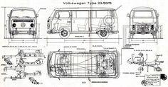 VW T2 Bus Type 23 (1974) | SMCars.Net - Car Blueprints Forum