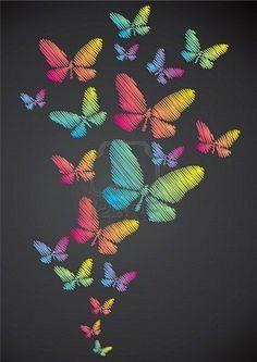 chalk drawings / butterflies