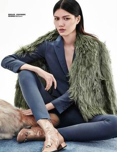 """Pastel Lady"" Harper's Bazaar China November 2014"