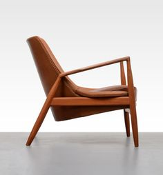 IB KOFOD-LARSEN, Seal armchair, 1956. Manufactured by OPE Möbler, Sweden. Material teak and leather.