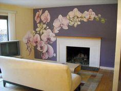 Orchid mix mural idea as seen on www.findamuralist.com
