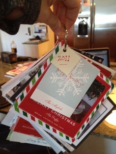 my first holiday card book! thanks pinterest!