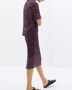 ZARA - NEW THIS WEEK - LACE PENCIL SKIRT