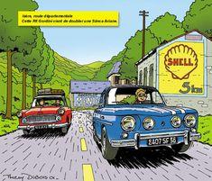 Cette Gordini vient de doubler une Simca Aronde.
