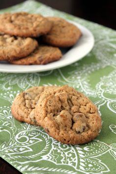 best peanut butter chocolate chip cookies; these suckers are perfect; perfectly chewy. perfectly crunchy. and perfectly peanut buttery; make these cookies now