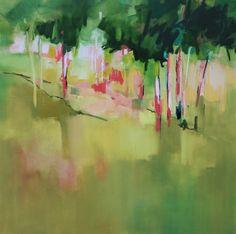 Green Peace-106x106cm - - Sara Paxton Artworks