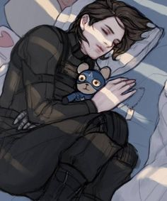 Bucky and Cappy Bear.  I really love this person's tumblr title: Protect Bucky Barnes at all costs.