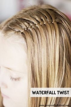 Waterfall Twist Tutorial…Awesome! I did this with my youngest who has very thin hair and most intricate braids do nor work for her but this turned out great