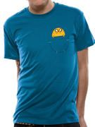 Officially licensed Adventure Time t-shirt design printed on a Blue 100% cotton short sleeved T-shirt.