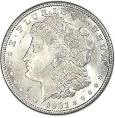- 1921 Morgan Silver Dollar - Brilliant Uncirculated Condition (BU) - 90% Silver - Last Year of the Morgan Dollar - Great for Collectors