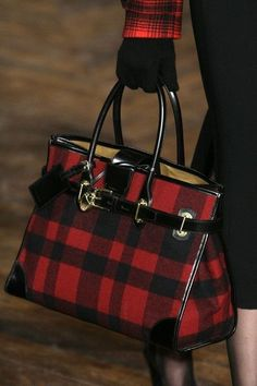 Ralph Lauren | Tartan bag. by georgette, as always obssessed with his purses!