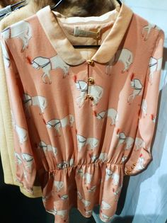Sweet show pony print new from Pale Cloud for fall 2014 girlswear at Pitti Bimbo 78