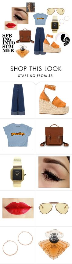 """Estilo Retro Vintage"" by m-arecha on Polyvore featuring Sea, New York, Chloé, The Cambridge Satchel Company, Patek Philippe, Ray-Ban, Jennifer Zeuner, Lancôme and vintage"