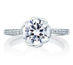 Art Designed Nature Inspired Engagement Ring