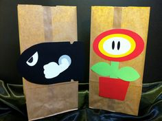 Super Mario Brothers Party Favor Bags. $20.00, via Etsy.