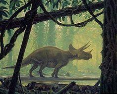Triceratops; Late Cretaceous (68–66 Ma); Marginocephalia (ceratopsian); Described by Marsh, 1889