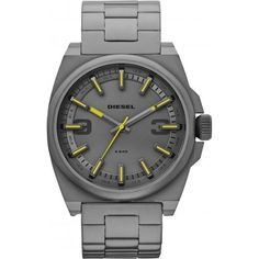 Diesel DZ1615 Mens Gunmetal Steel Bracelet Watch ** To view further for this item, visit the image link. (This is an affiliate link) #DieselWatch