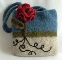 Felt Purse with Lines