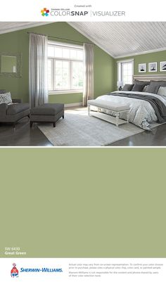 I found this color with ColorSnap® Visualizer for iPhone by Sherwin-Williams: Great Green (SW 6430).