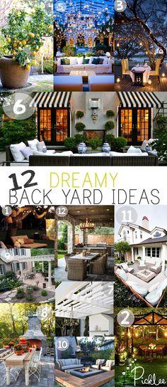 Dreamy back yard ideas!