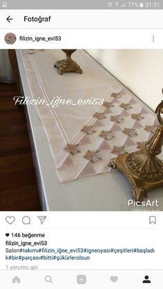 This Pin was discovered by Lal Point Lace, Table Covers, Eminem, Table Runners, Couture, Picsart, Needlepoint, Embroidery Patterns, Diy And Crafts