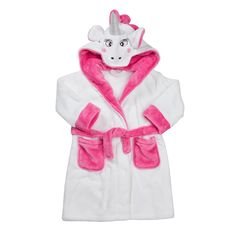 Girls Hooded Fleece Unicorn Bath Robe Kids Dressing Gown Nightwear 2-13Yrs - Printingmad Store