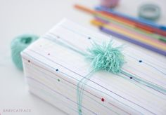 DIY ink pen packaging with yarn Free DIY Projects and Clip Art