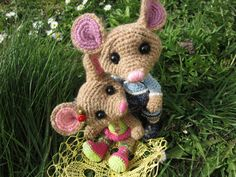 Martin and Mari mouse crochet teddy by UibopuuDesign on Etsy