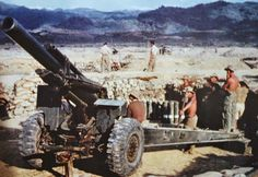 French 155mm Howitzer position in Dien-Bien-Phu..pin by Paolo Marzioli