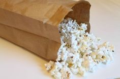 Microwave Popcorn in a Brown Paper Bag - Minus the chemicals and nasty fats in microwave popcorn.  And cheap too!
