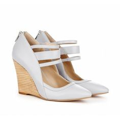 Sole Society - Ankle strap wedges - Gwenn - Silver Sconce
