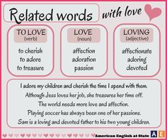 Related words with LOVE