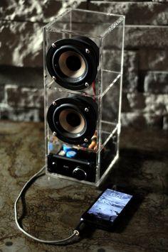 Boombox speaker system. LOUD by DoerflerDesigns on Etsy