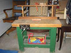 Child's Wooden Workbench