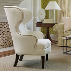 "Rand chair from Ethan Allen. Inside Seating Area : 24"" wide x 22"" deep Seat Back: 25"" high"