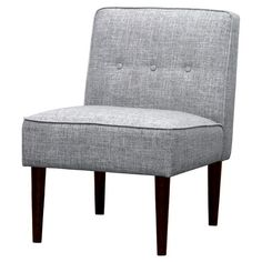 Threshold Slipper Chair with Buttons - Gray