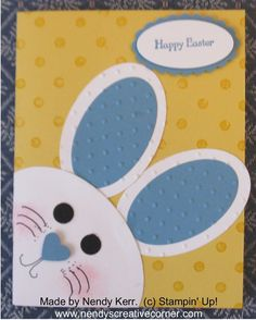 Via Sandie Rey Bunny Card, cute!