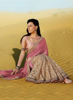 Fab Look Half And Half #Saree