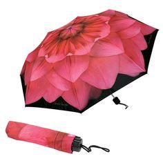 Pink Dahlia Travel Umbrella