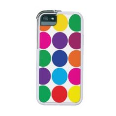 Bright Bold Colorful Rainbow Circles Polka Dots Case For iPhone 5/5S
