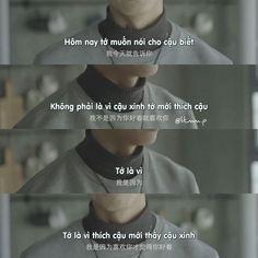 """TUỔI TRẺ NỒNG NHIỆT on Instagram: """"1 câu nói khiến bạn """"đổ"""" ngay lập tức? • Phim: Câu Chuyện Thật Ngắn, Nhưng Tớ Thích Cậu Rất Lâu Rồi • Ảnh: @ttnn.p"""" Very Short Stories, Sad Stories, Drama Quotes, Movie Quotes, Cute Quotes, Girl Quotes, Missing You Love Quotes, My World Quotes, Chinese Quotes"""