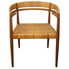 Teak & Cane Round Chair by Nanna Ditzel   1stdibs.com