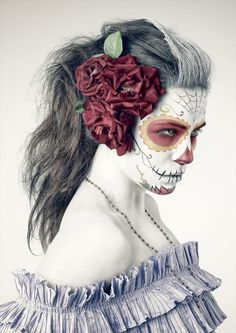 Beautiful Day of the Dead makeup/costume