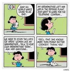 We Are Strong, Charlie Brown And Snoopy, Her World, Great Women, True Words, Talking To You, Going To Work, Comic Strips, This Or That Questions