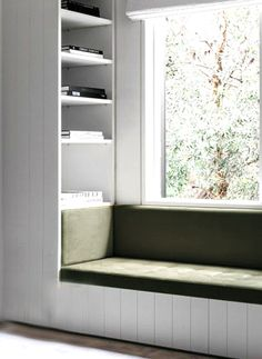 Daybed With Storage, Window Seat Storage, Built In Furniture, Space Saving Furniture, Kitchen Storage Bench, Home Office Setup, Minimalist Home Interior, Home Design Plans, Bay Window