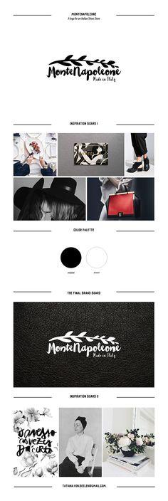 #logotype #logo #inspiration #design #board #graphic #branding #calligraphy #letteringring #twig #ink #black&white #stylish #italian #store #shoe MonteNapoleone logo on Behance
